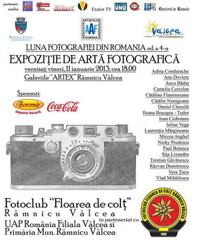 EXPOZIŢIE DE ARTĂ FOTOGRAFICA LA GALERIILE ARTEX Rm. Vâlcea   11 - 25.01.2013