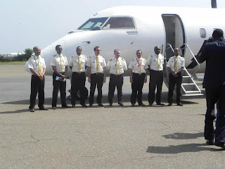 Delivery ceremony for ASKY Airlines 3 Q400s in Togo
