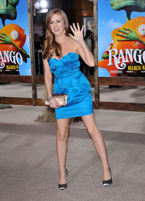 Isla Fisher In A Blue Minidress
