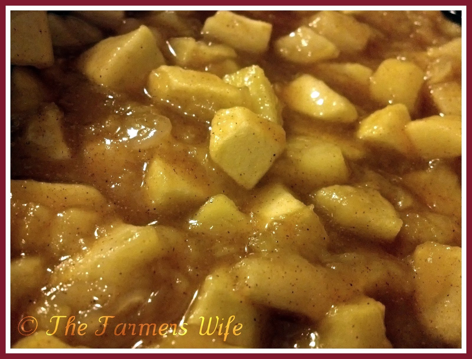 Baked Cinnamon Apples, Farmers Wife Original