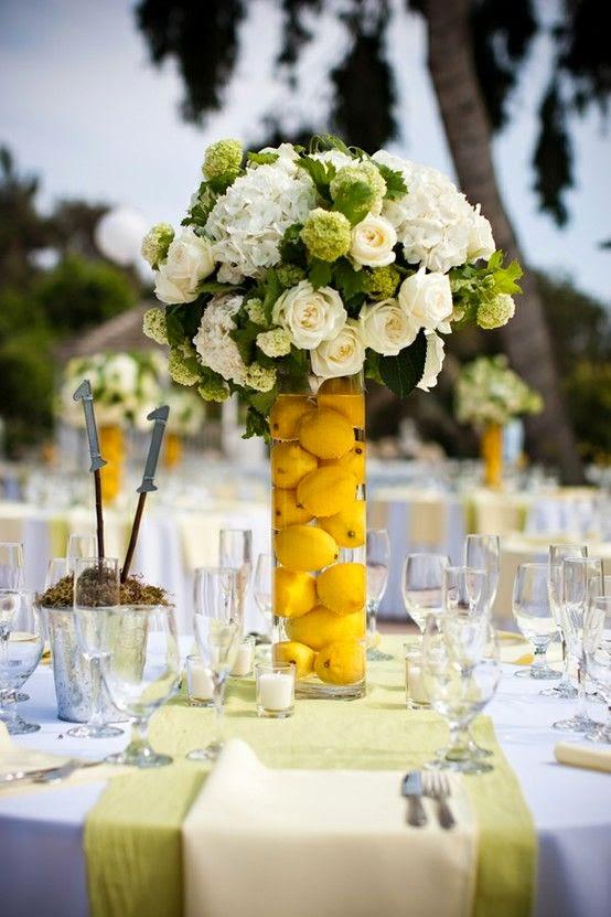 9 centros de mesa para bodas con frutas - Centros de mesa con limones ...