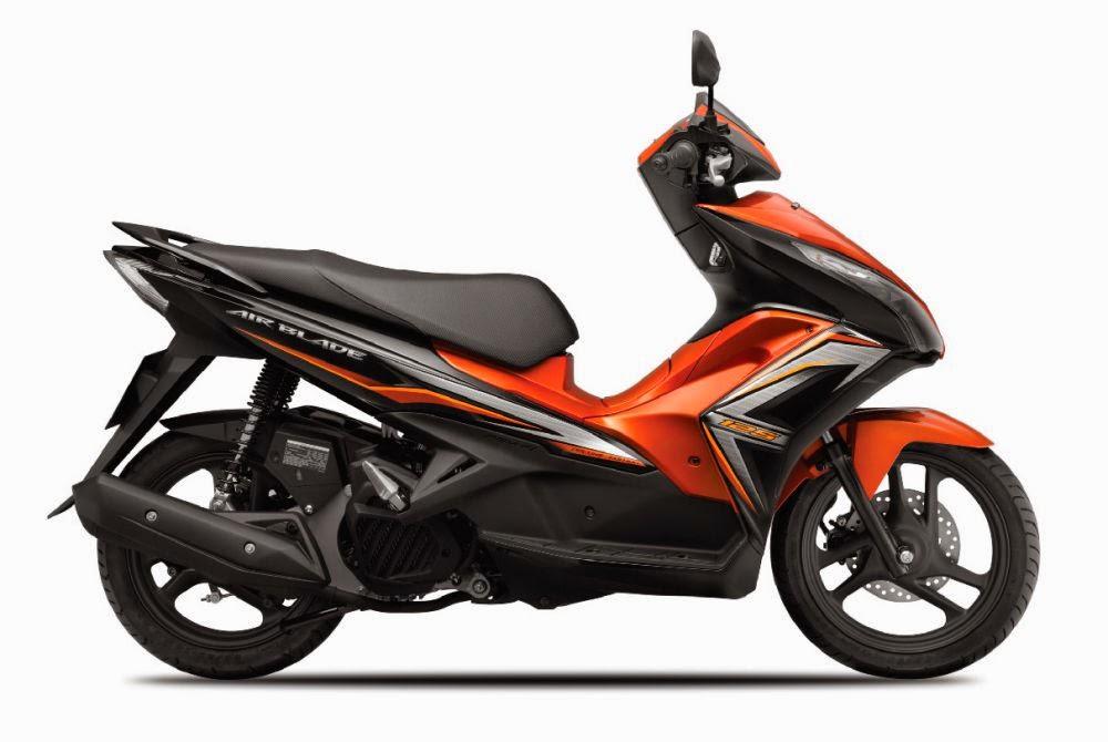 Air Blade 2014 màu cam đen