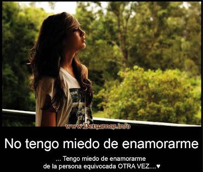 No tengo de miedo de enamorarme, tengo miedo de enamorarme de la persona equivocada otra vez ♥