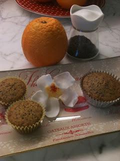 muffins arancia e semi di papavero