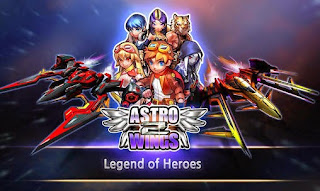 Screenshots of the Astrowings 2: Legend of heroes for Android tablet, phone.