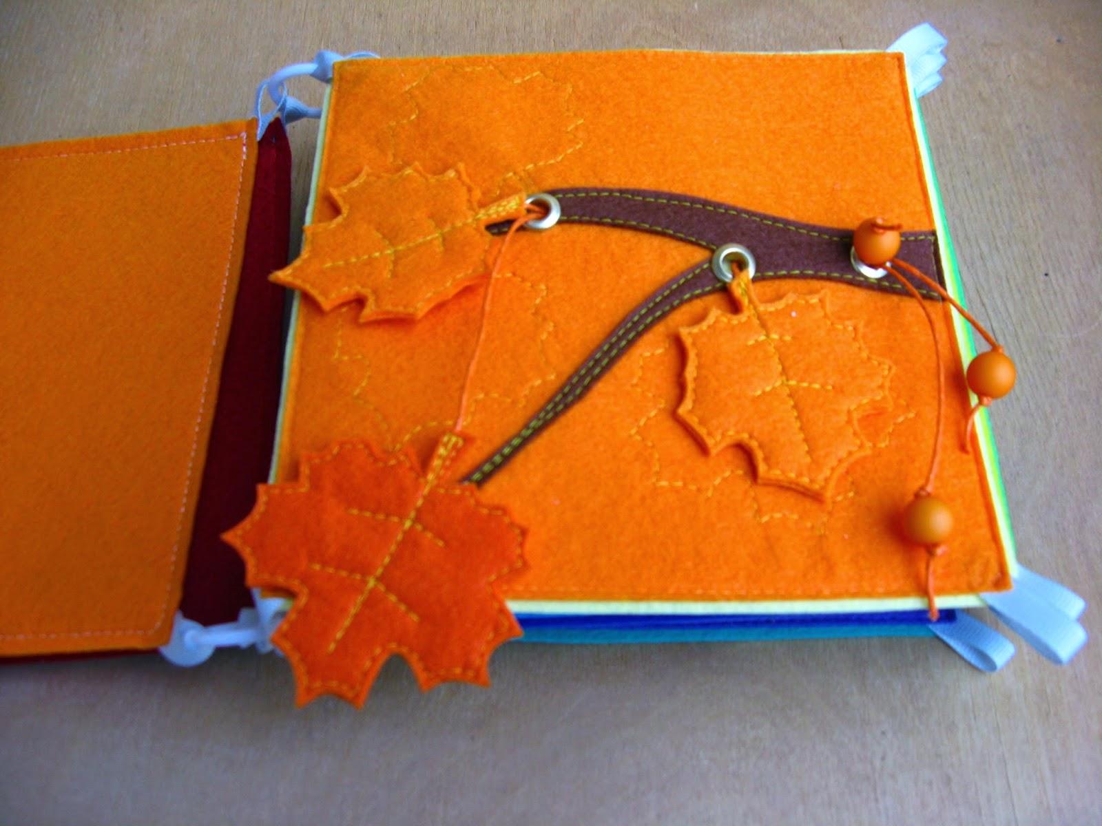 Развивающая книжка из фетра своими руками 47