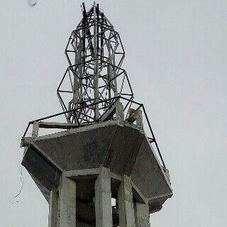 rangka, struktur, bracing, pengaku, pilar, menara, masjid, bandung, konstruksi, pipa