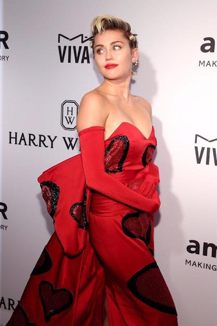 Singer, Actress @ Miley Cyrus - 2015 amfAR Inspiration Gala in New York