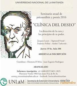 Seminario de psicoanálisis y poesía 2016