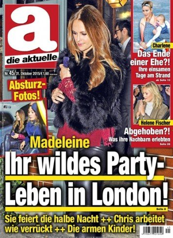 Princess Madeleine on the cover of German Die Aktuelle
