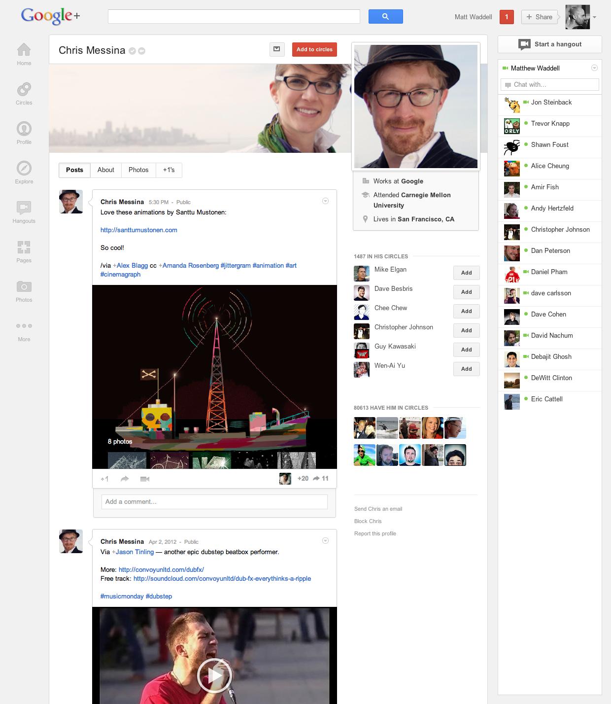 Novo Google+