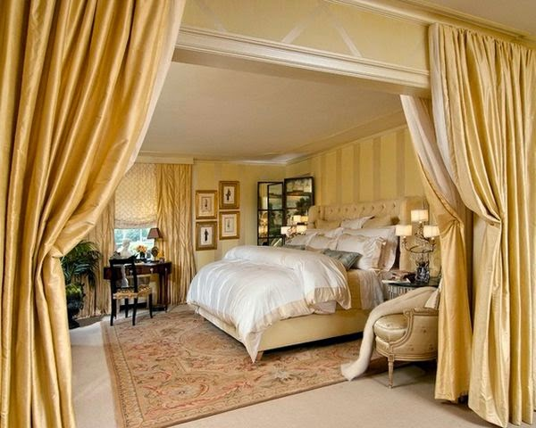 Temporary Room Divider Curtain Golden Double Curtain As Room Divider