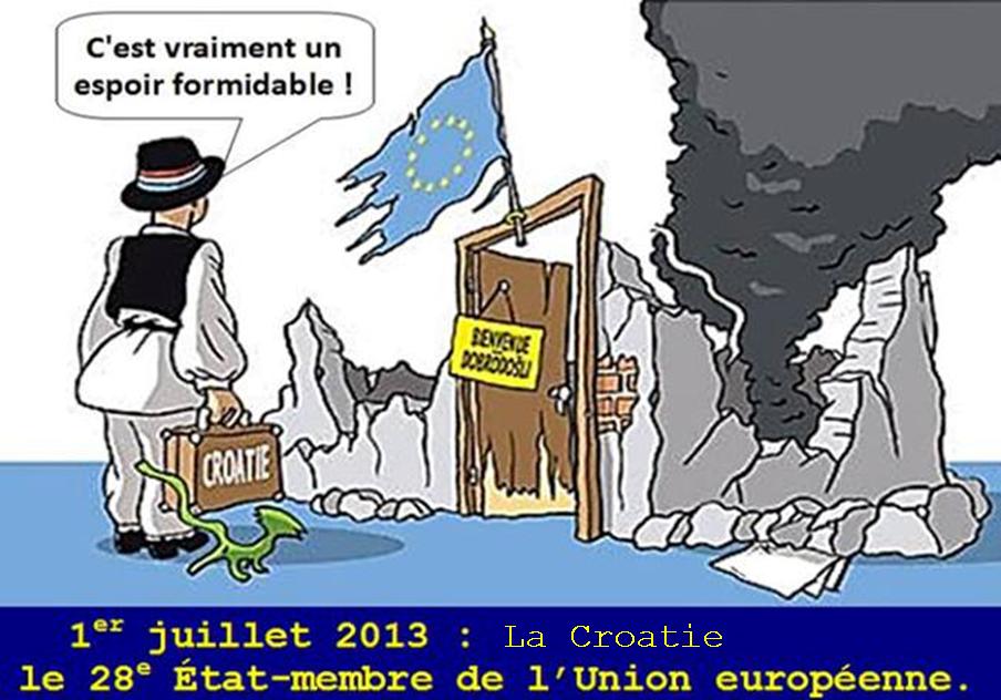 Entrée de La Croatie dans l'Union européenne