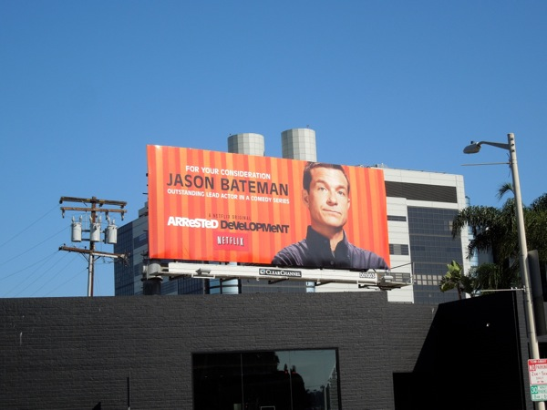 Arrested Development Jason Bateman Emmy billboard 2013