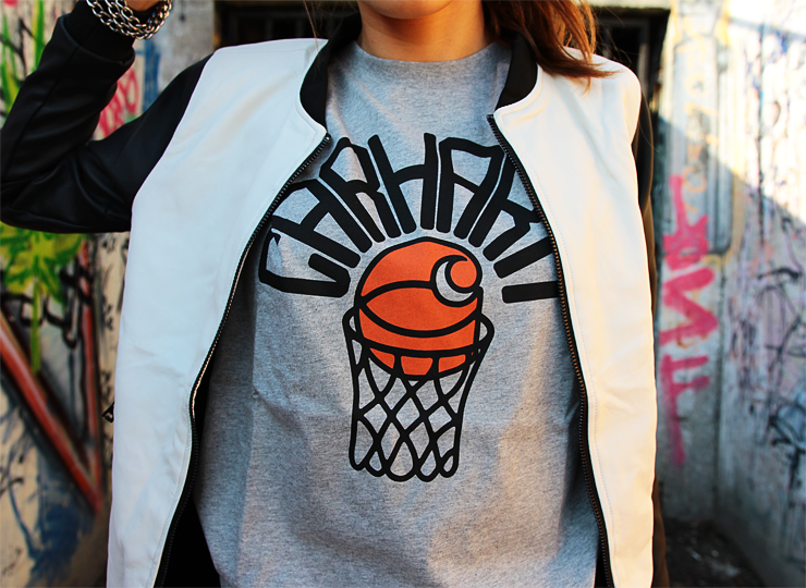 Carhartt Basketball Net T-Shirt in Grey Heather