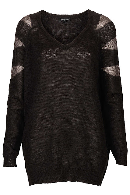black shimmer jumper