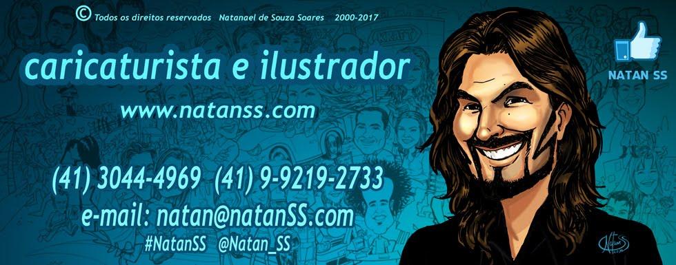 CARICATURAS  CURITIBA, Natan SS - Caricaturas ao vivo