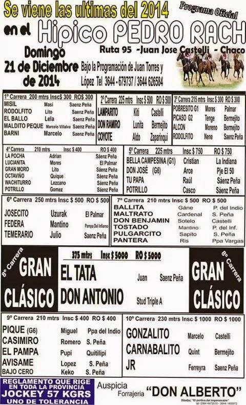Juan Jose Castelli Programa
