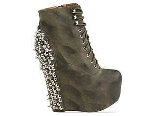 Jeffrey Campbell Damsel in Khaki Distressed Silver