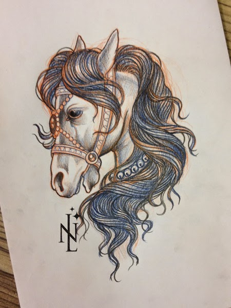 Line Drawing Horse Tattoo : Nina laine tattoo circus horse anyone