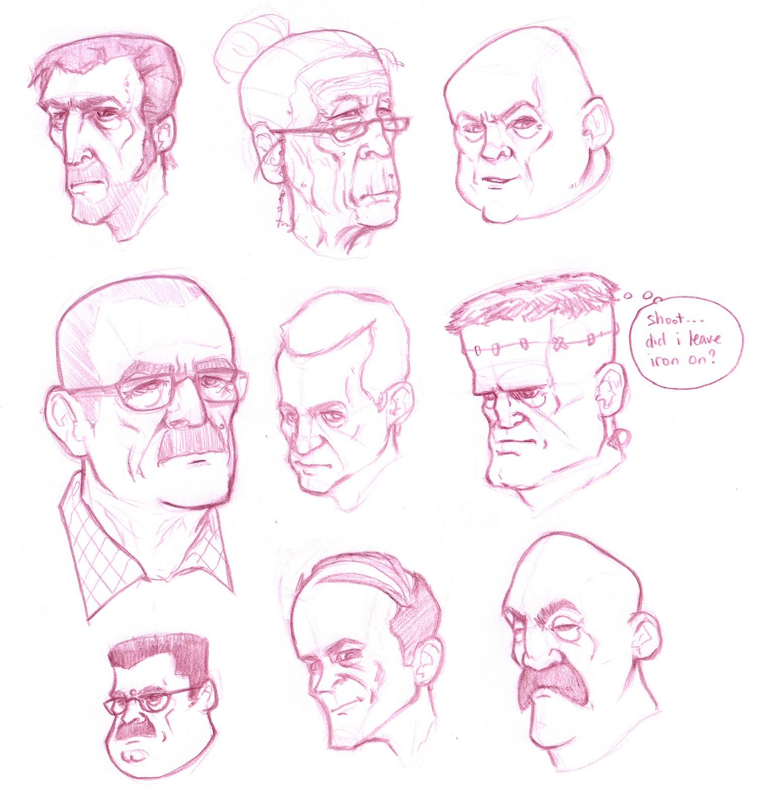 timothy anderson art head sketches