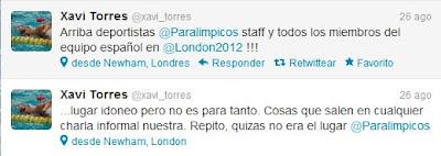 Xavi Torres quita hierro al asunto