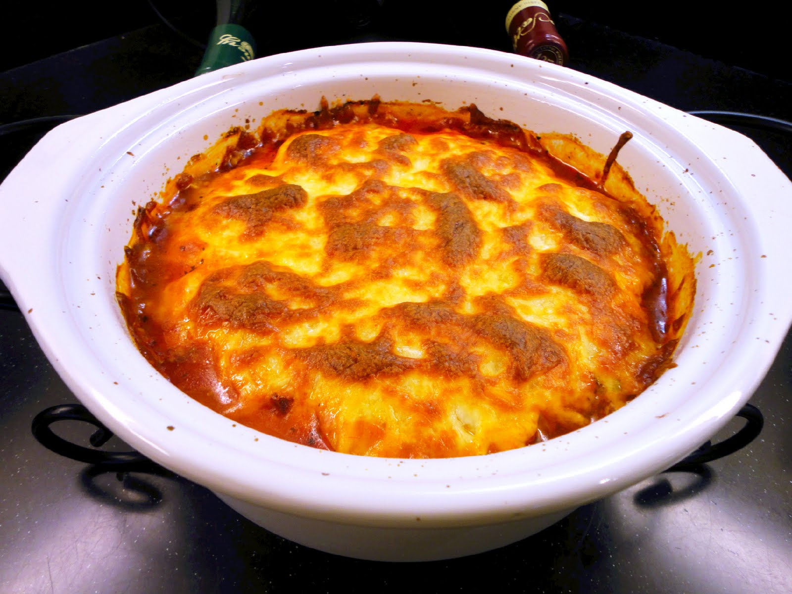 Recipe Resolution: Polenta Pie with Cheese and Tomato Sauce