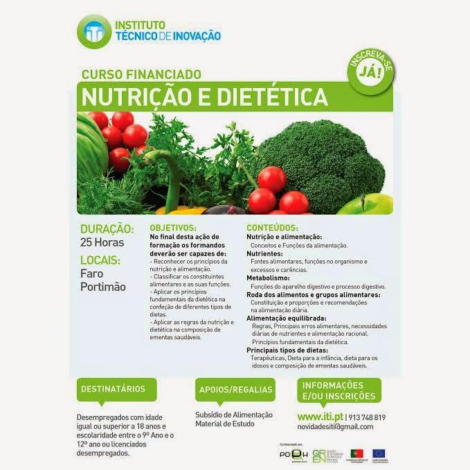 Formação financiada: Nutrição e Dietética (25h) no Algarve (Portimão e Faro)