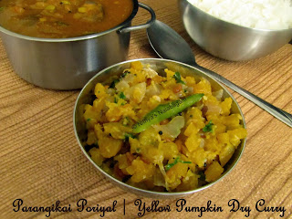 Yellow Pumpkin Poriyal