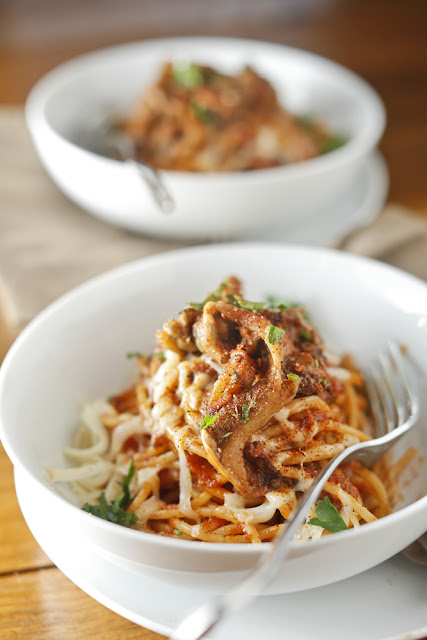 BBQ Eggplant Spaghetti