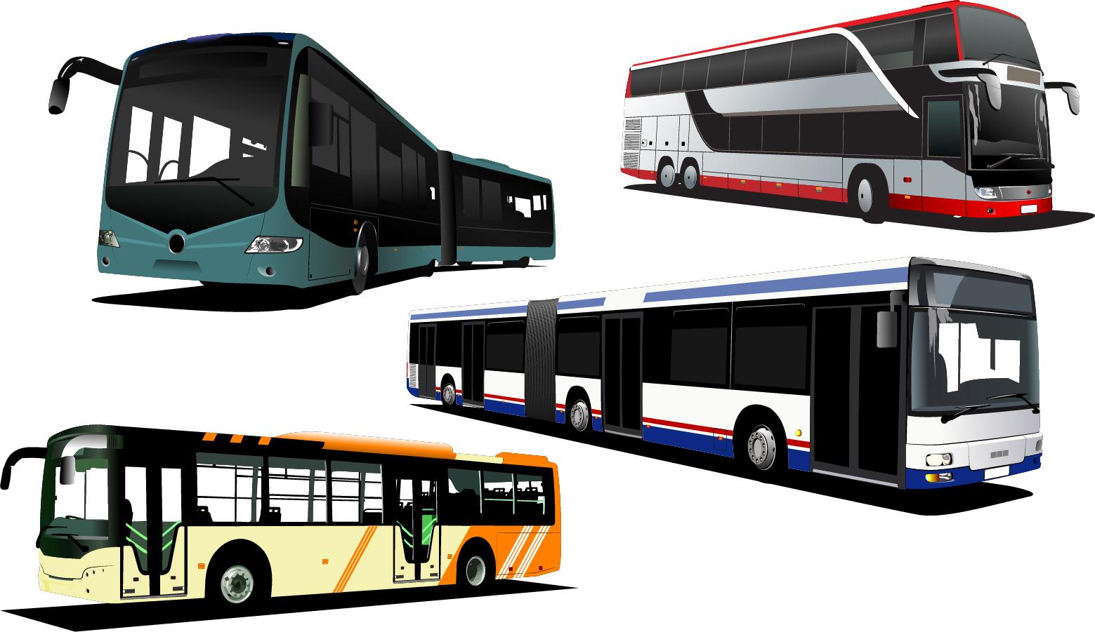 free vector がらくた素材庫: 観光バスのクリップアート travel