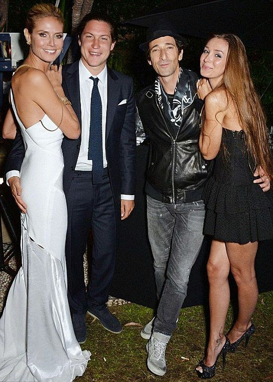 On the midnight party at Villa st.George, the pair hang out with supermodel, Heidi Klum and new boyfriend, Vito Schnabel.