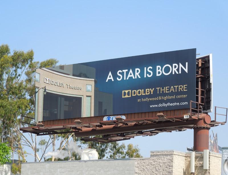 Dolby Theatre A star is born billboard