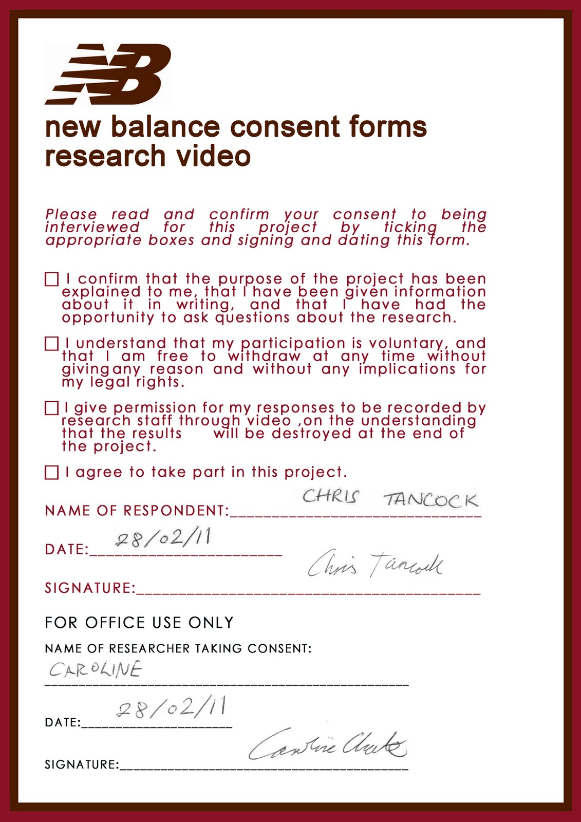 new balance research blog  focus group consent forms