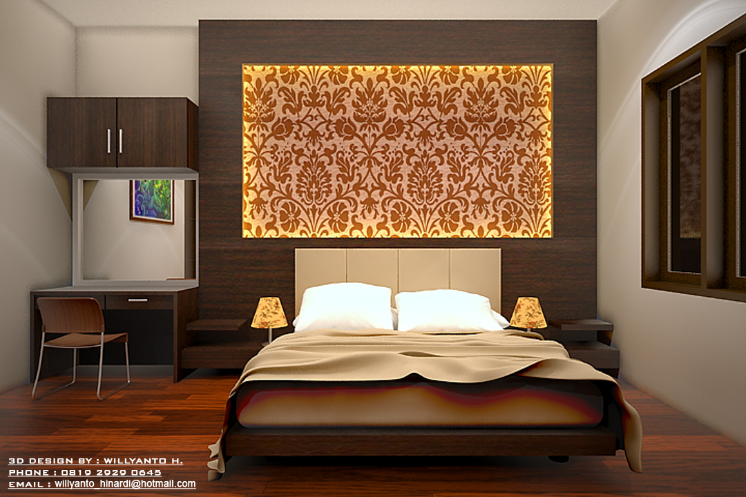 Master Bedroom 3d Design willyanto hinardi's design: 3d interior - master bedroom @ pik house