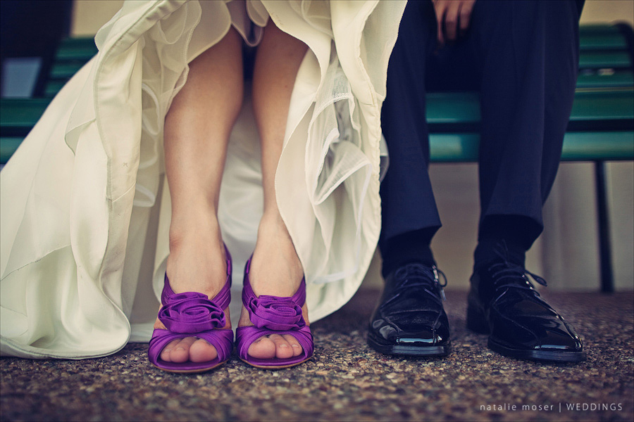 Sassy Purple Wedding Shoes