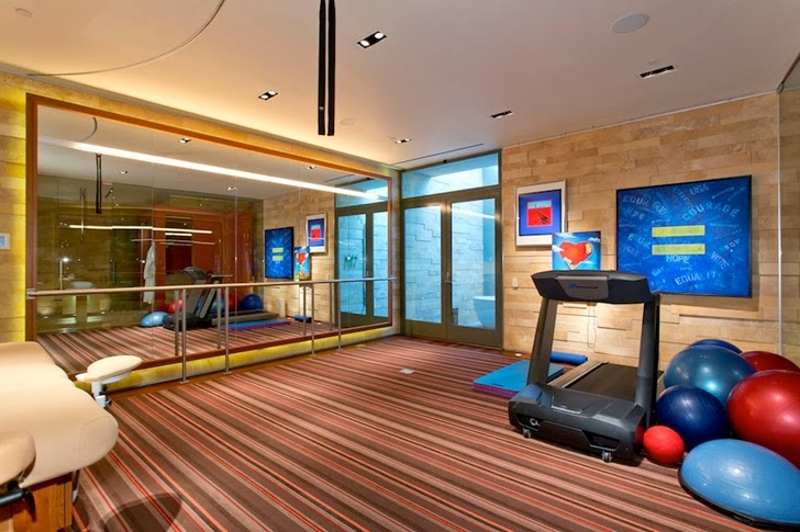 Gym in the Multimillion modern dream home in Las Vegas