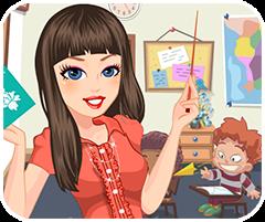 Cô giáo dịu hiền, game ban gai