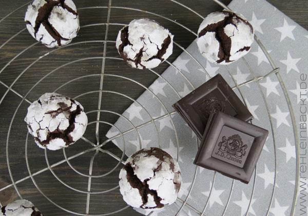 Schokoladige Schneekrönchen-Plätzchen bzw. Snow Caps | Foodblog rehlein backt