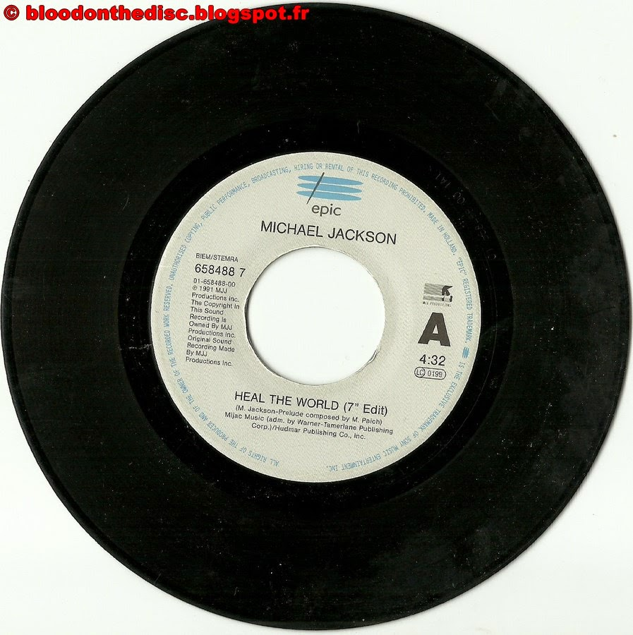 Heal The World 45T Side  A