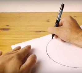 cara buat lingkaran sempurna tanpa alat