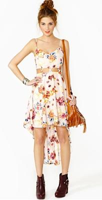 Nastygal Rosy Lattice Dress