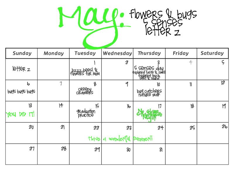Monthly Activity Calendar For Kindergarten : Smarty pants preschool monthly calendars