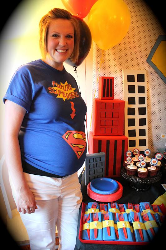 smellin coffee superhero baby shower