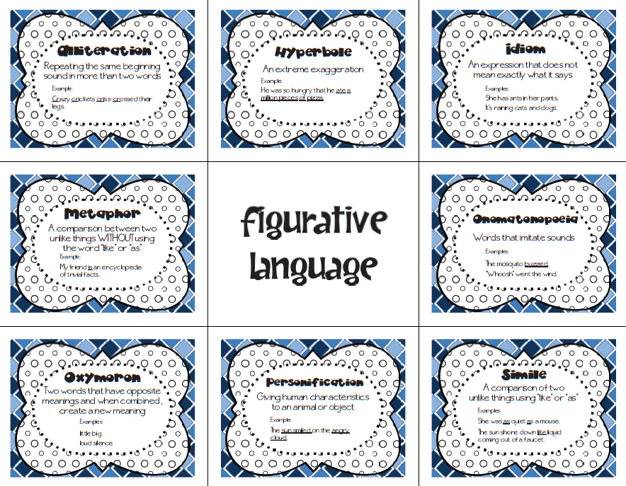 figurative language poetry terms Literary terms 61 figurative language to get you thinking can you say what  two things are being compared in each of the following phrases phrase.