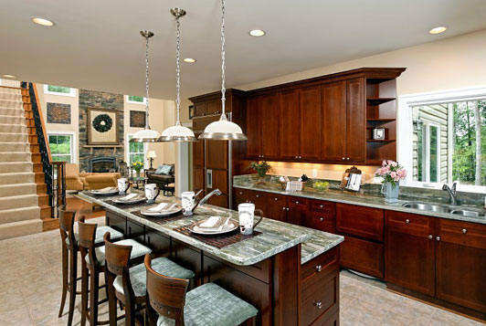Made of metal kitchen islands with breakfast bars for Breakfast bar ideas for kitchen