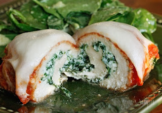 Food appetite: Chicken Rollatini with Spinach alla Parmigiana