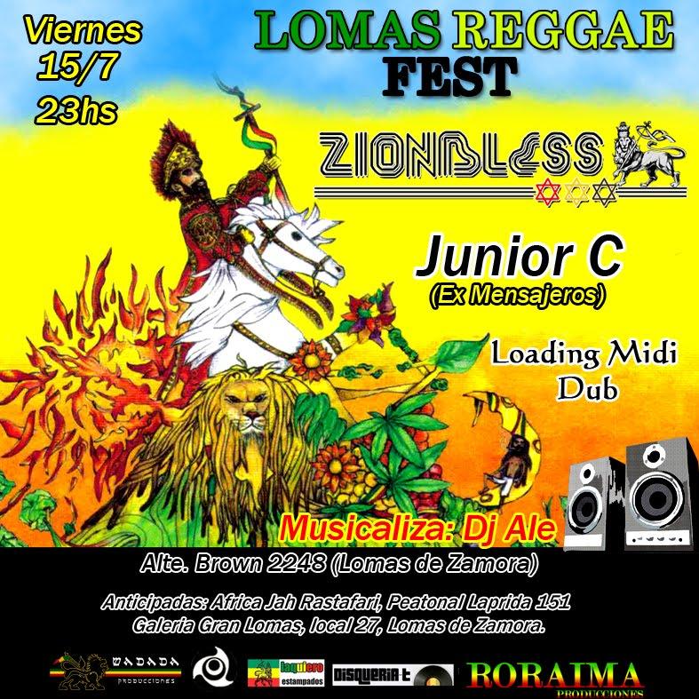 Lomas Reggae Fest - 15 de Julio