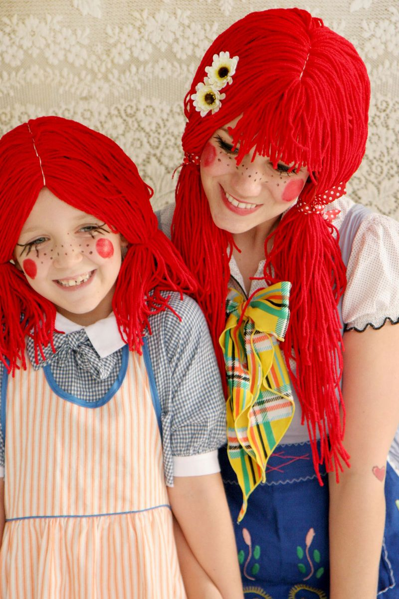Rag doll halloween costume d i y home decorating ideas for Cute homemade halloween costumes for girls