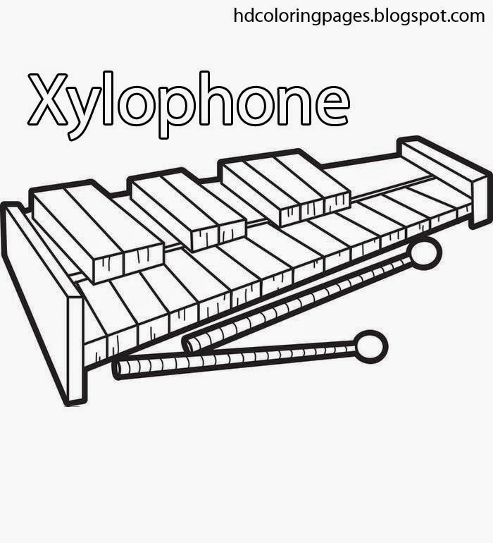 Free Coloring Pages Of X Is For Xylophone